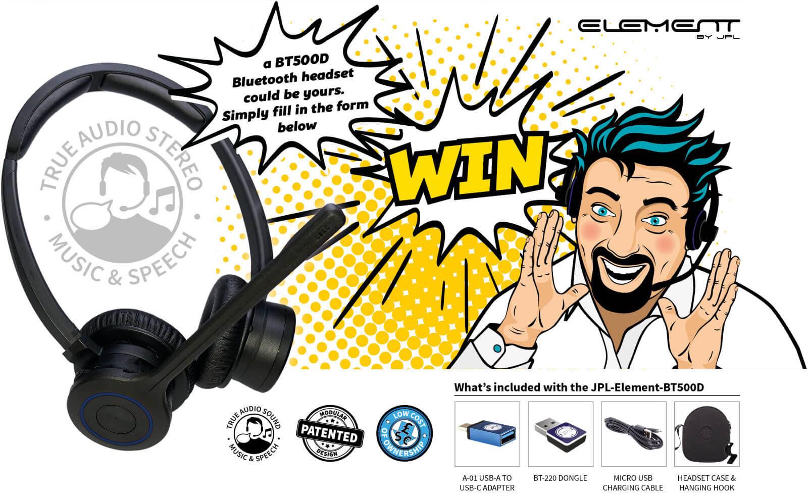 WIN a JPL-Element-BT500D Bluetooth headset